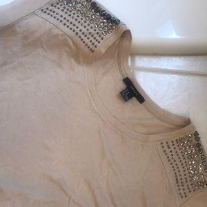 Studded cream shirt Forever 21